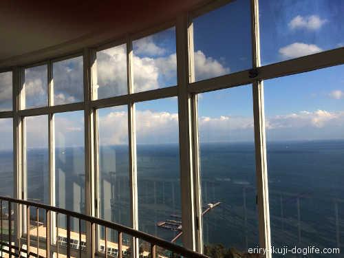 天気がいいときは大阪方面も見えるそうです