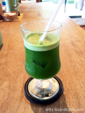 宇治茶認定のカフェ「竹の子」のグリーンティー 京都府和束町
