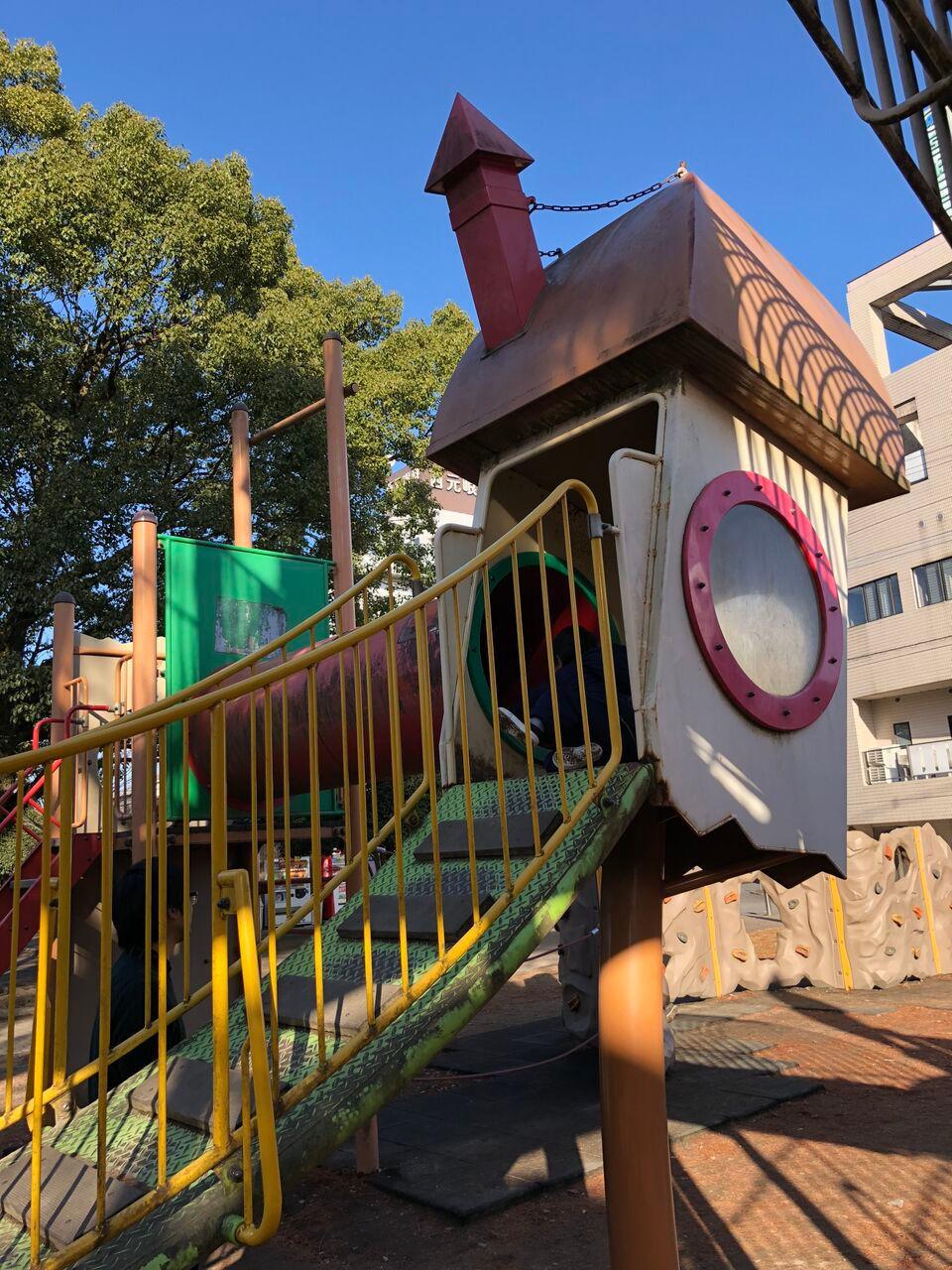 神柱公園楽しく遊べる大型遊具
